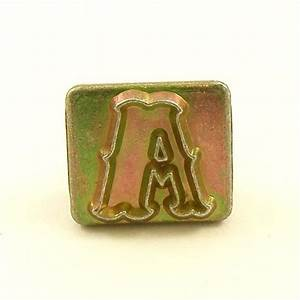20mm decorative letter a embossing stamp artisanleather With single letter embosser