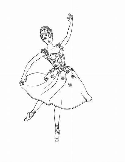 Coloring Pages Ballet Printable Ballerina