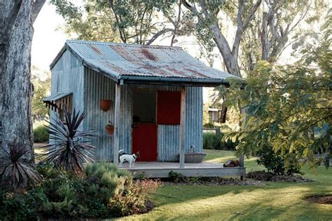 rusty patina   galvanized steel shed