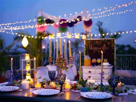 allestire un terrazzo come arredare un terrazzo per una festa suggerimenti e