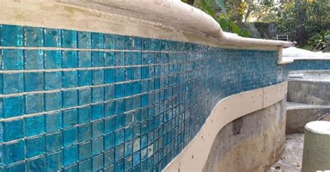arctic lagoon 1x1 glass tile home pool remodel project