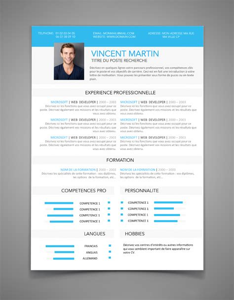 Exemple De Curriculum Vitae 2015 by Modele Cv Pfe 224 Imprimer Cv Cv Design Resume Cv Et Resume