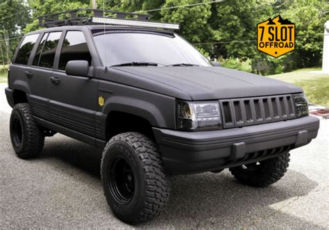 rhino jeep cherokee jeep grand cherokee suv 1993 black for sale