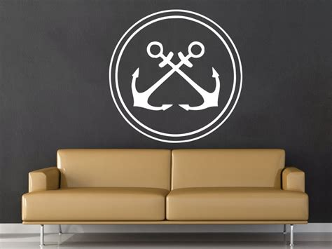Rustic anchor wall decor adds instant nautical mood to your home or cottage; Nautical Anchor Wall Decal Removable Wall Stickers For Kids Rooms Kid Nursery Bedroom Home Decor ...