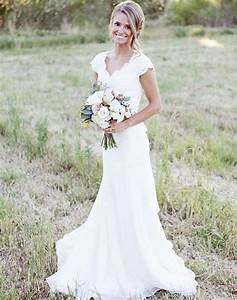 2015 popular v neck mermaid lace western country style With lace country wedding dresses