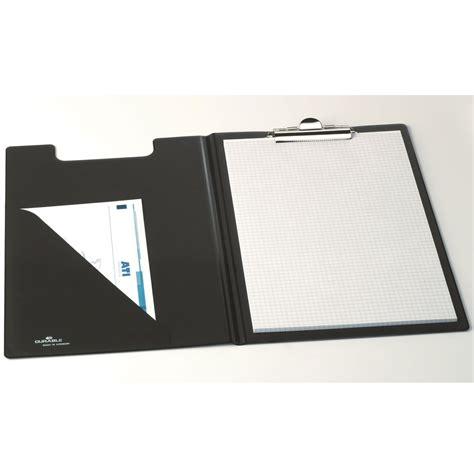 bloc note sur bureau durable porte bloc a5 avec rabat standard coloris noir