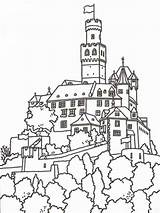 Castle Coloring Pages Boys Print sketch template