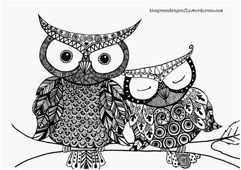 Coloring Pages Owls Of