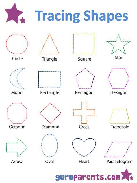 teaching shapes guruparents 282 | tracing shapes worksheet