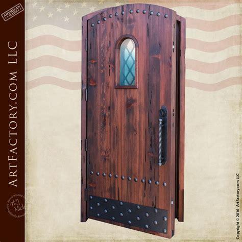 Arched Custom Door With Glass Window   Wood Entry Doors
