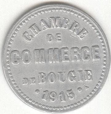 inscription chambre de commerce 10 centimes bougie chambre de commerce algérie numista