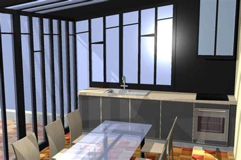 cuisine cuisson perspective 3d cuisine ouverte sur terrasse