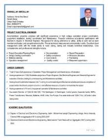 electrical engineering resume summary substation project construction electrical engineer resume