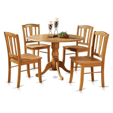 Kitchen Table 4 Chairs by 5pc Pedestal Drop Leaf Kitchen Table 4 Chairs