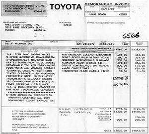 kiyobrowns 1987 4runner build up thread yotatech forums With toyota 4runner invoice price
