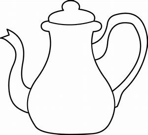 Tea Kettle Coloring Page - Free Clip Art