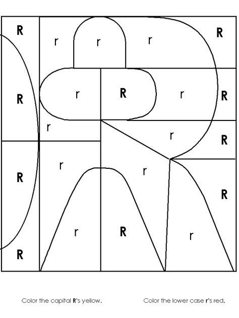 image worksheet alphabet recognition 109   r as color1