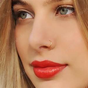 Fake Nose Ring Septum Ring Hoop Cartilage Tragus Helix