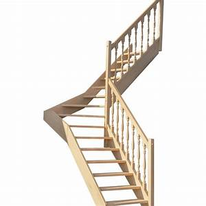 Escalier 1 4 Tournant Droit : escalier 1 4 tournant milieu sans contremarches balustres tourn es escaliers ~ Dallasstarsshop.com Idées de Décoration