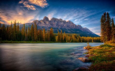 Nature, Mist, Landscape, Sunrise, Mountain, Forest, River