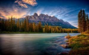 Nature, Mist, Landscape, Sunrise, Mountain, Forest, River, Wallpapers, Hd, Desktop, And, Mobile