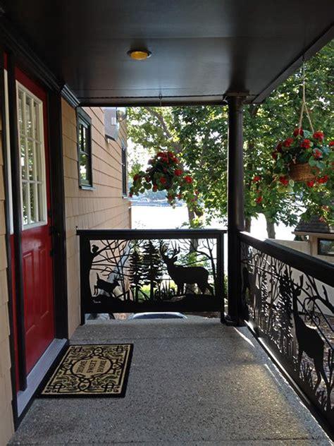 decorative railing panel inserts  custom metal railing