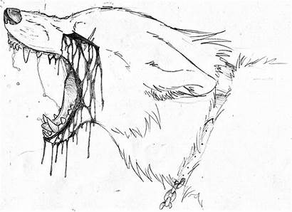 Wolf Bloody Tears Sad Angry Sketch Deviantart