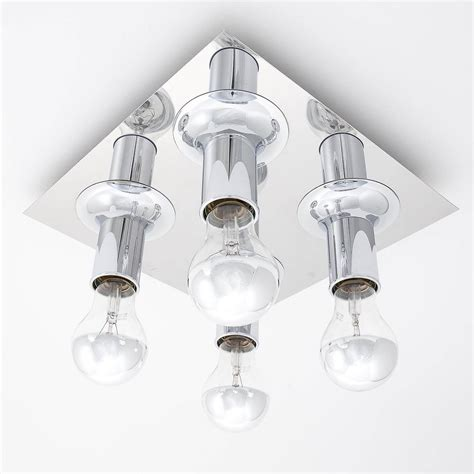 pair of flush mount or wall light fixtures chrome