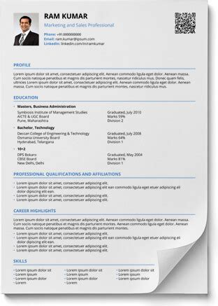 Contemporary Resume by Resume Format In Word And Pdf Shriresume