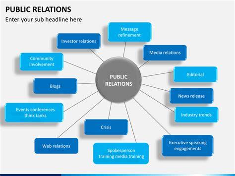public relations powerpoint template sketchbubble