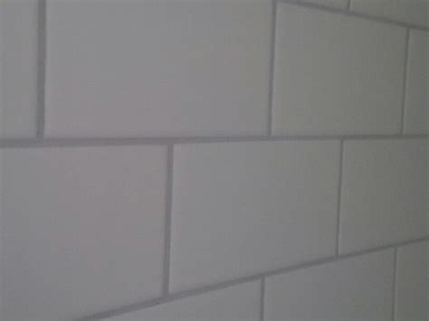 Grey Tiles With Grey Grout by White Stacked Subway With Light Grey Grout 115 Platinum