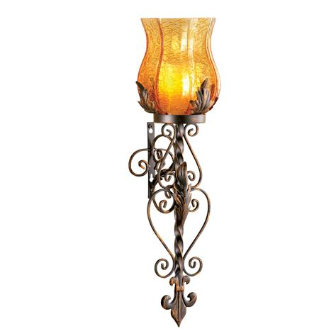 candle holder wall sconces glass wall sconce candle holder by collections etc ebay