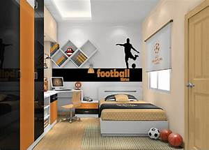 cool boys bedroom interior decorating ideas with football With teenage boys bedroom interior designs