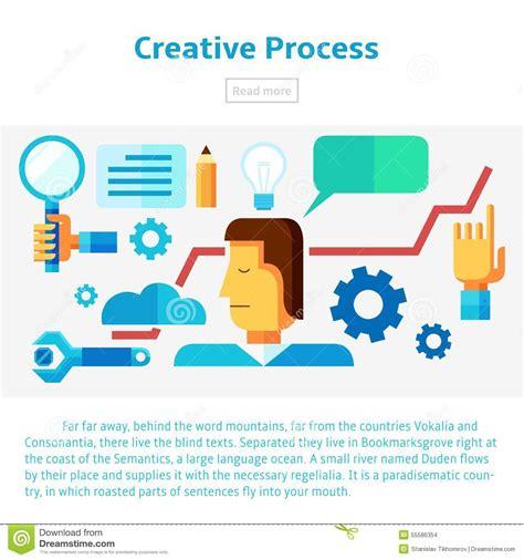 creative process vector illustration stock vector image