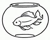 Fishbowl Clipart Fish Bowl Coloring Printable Clipartmag sketch template