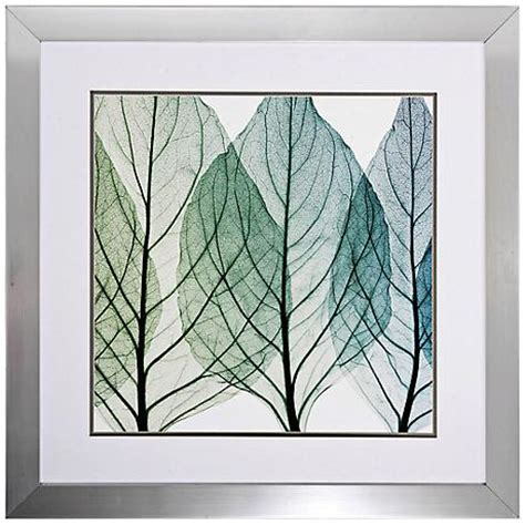 framed leaves wall celosias leaves ii 30 quot square framed leaf wall 3512