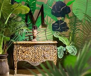 le style deco neo tropical joli place With couleur papier peint tendance 15 commode moissonnier objet deco deco