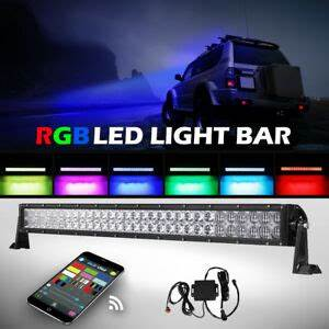 42 Inch Curved Light Bar 5d 32inch 600w Cree Rgb Led Light Bar Strobe Flash Multi
