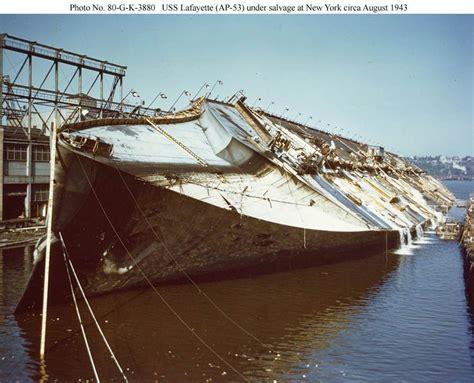 U Boat In Ny Harbor by Ss Normandie In New York Harbor Dock 1942 New York