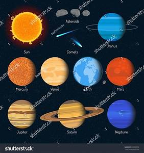 Set Solar System Planets Outer Space Stock Illustration ...