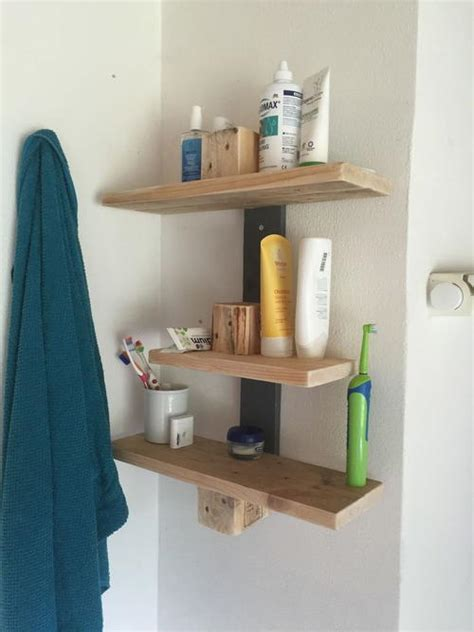 precious pallet wood diy bathroom shelves diyideacentercom