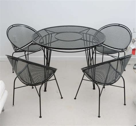 Salterini Iron Patio Furniture by Vintage Salterini Wrought Iron Patio Set At 1stdibs