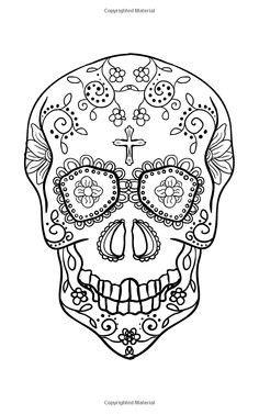 Sugar Candy Skull Coloring Pages | sugar skulls