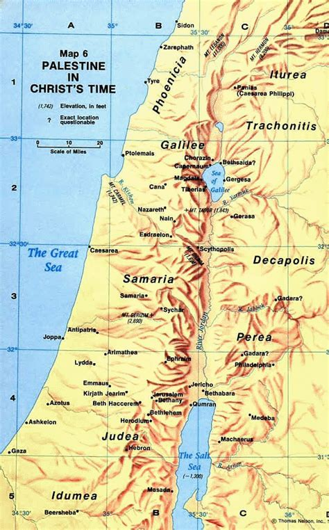 map  palestine   time  christ