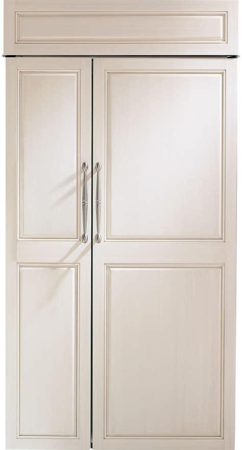 monogram    built  french door refrigerator panel ready zisnnii   glass