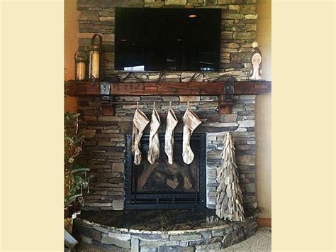 fireplace mantel  christmas stockings antique woodworks