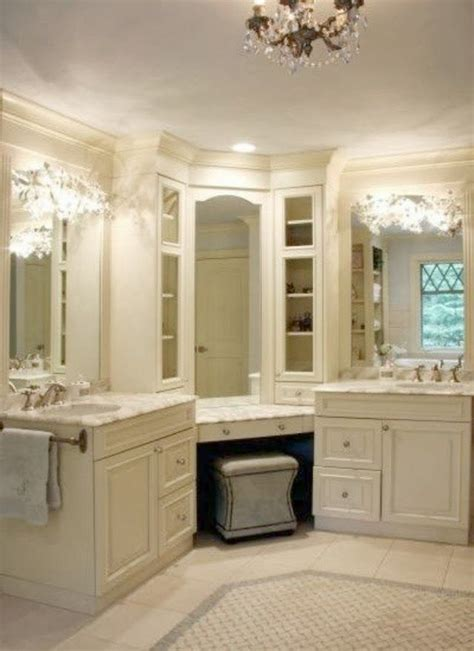 Bathroom Vanity With Makeup Station by Pin By Clarissa Atchison On Bathrooms