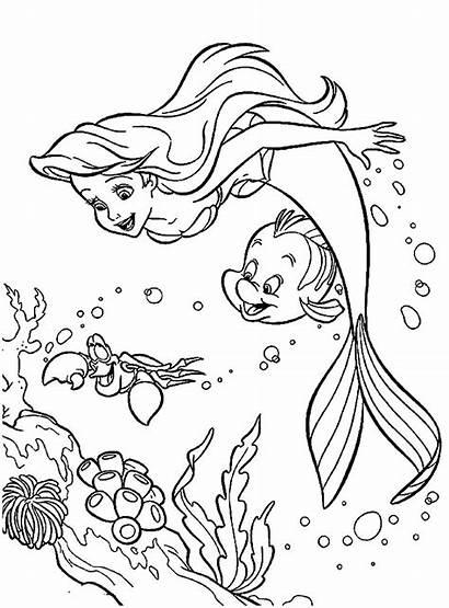 Ariel Coloring Mermaid Pages Cartoon Castle Teen