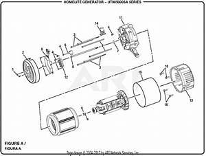 Homelite Ut905000sa 5000 Watt Generator Parts Diagram For