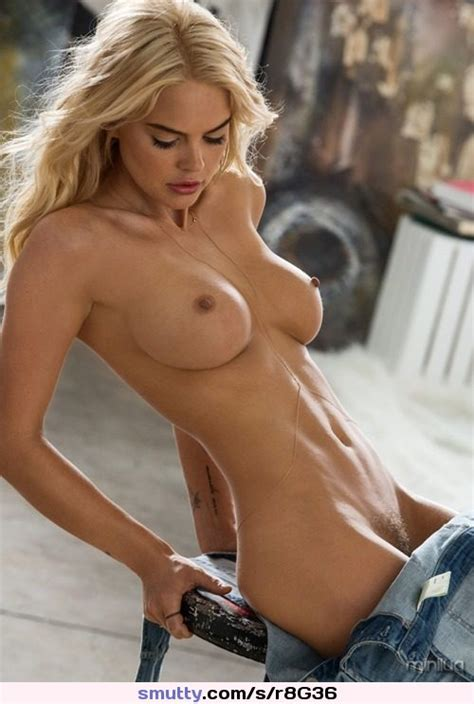 Sexy Blonde Topless Undressing Boobs Tits Nipples